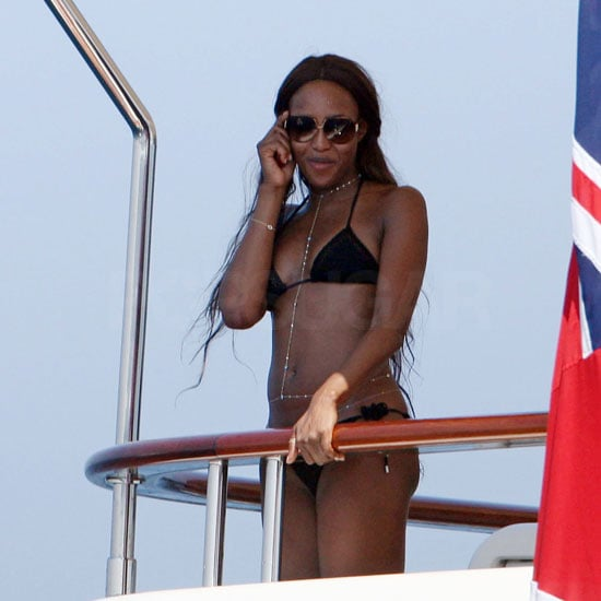 Photos of Naomi Campbell in a Bikini on Vacation
