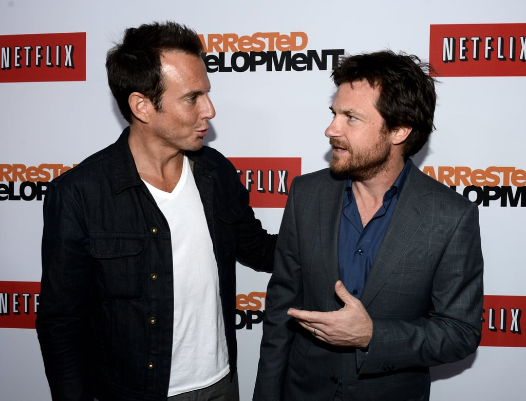 """Will Arnett and Jason Bateman starred together in four seasons of Arrested Development, and it looks like their relationship progressed to real-life too. It's hard to tell who's harboring the crush here, but Will once joked that he and Jason  were dating: """"Jason and I were just looking to have a little pied-à-terre in the city. And look, we're not dating per se. And obviously she—he would like to."""""""