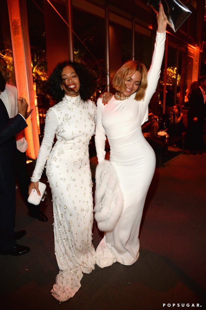 She lived it up with her sister Solange at the Vanity Fair Oscars afterparty in February 2015.