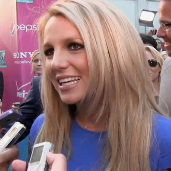Britney Spears at The X Factor Premiere (Video)