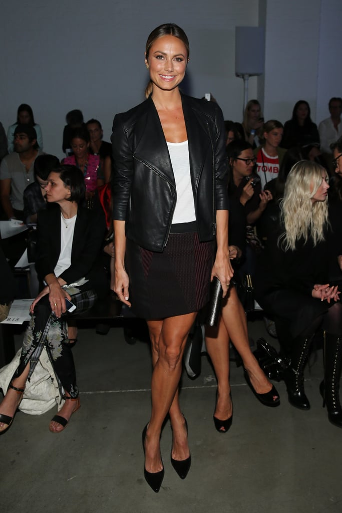 Stacy Keibler wore black and white for Friday night's Helmut Lang show.