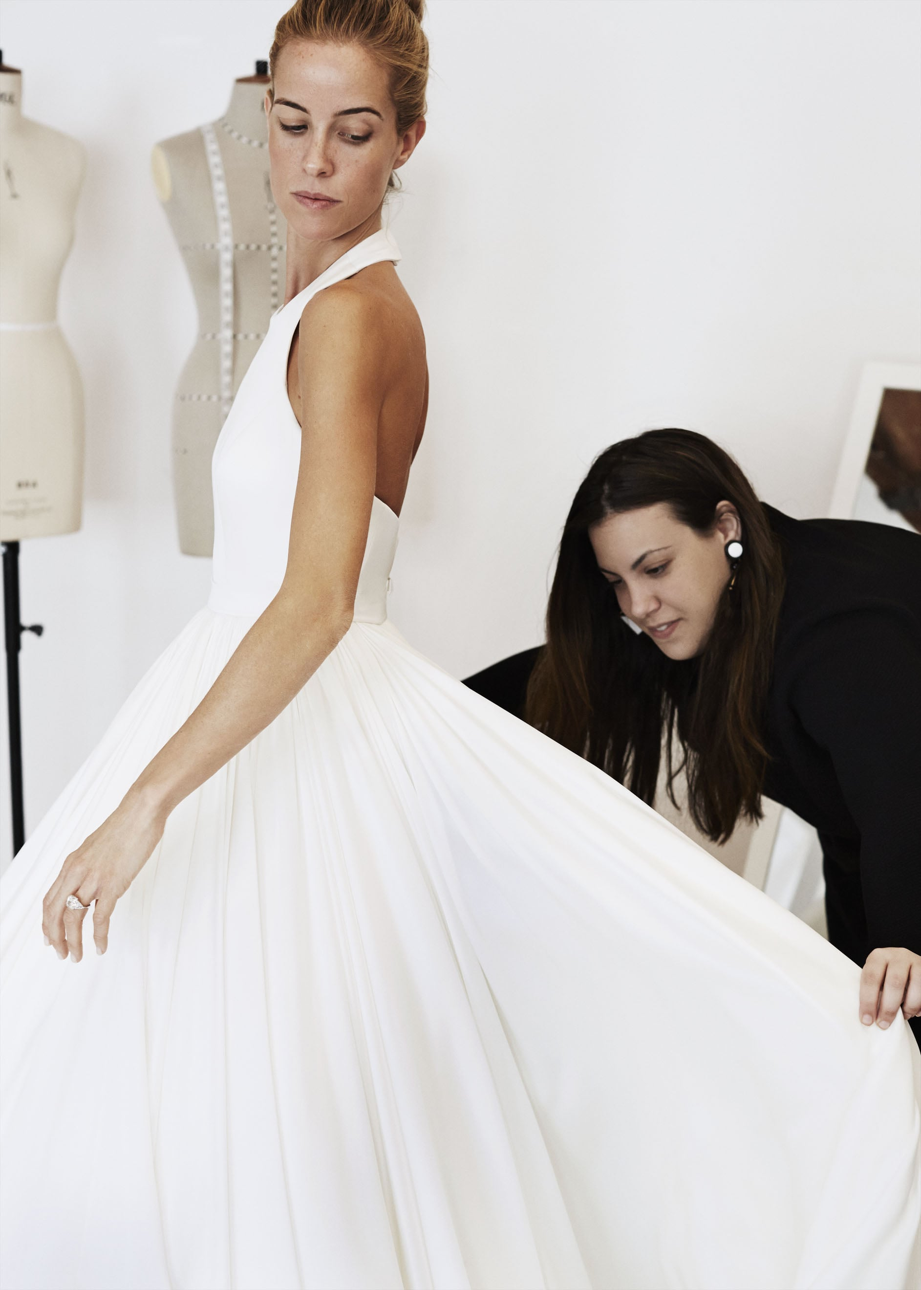 A shot from the side shows that the dress is in fact a halter.  Photo courtesy of Mary Katrantzou