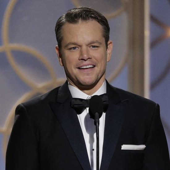 Matt Damon at the Golden Globes 2014