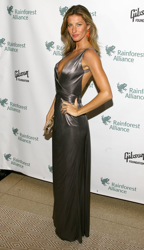 And let's not forget when she made a metallic maxi feel supersexy too.