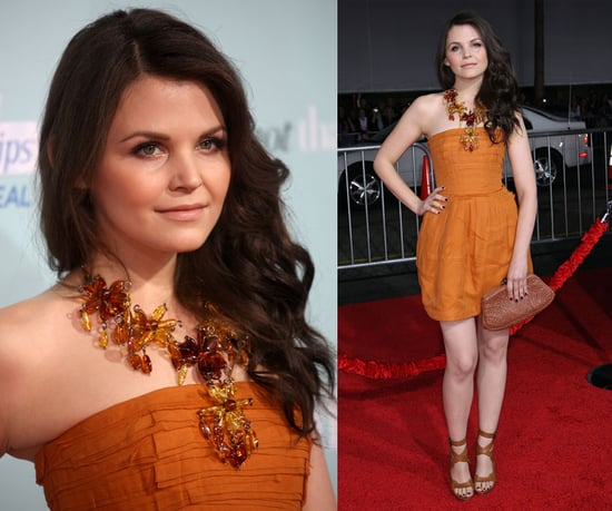 Ginnifer Goodwin Attends He's Just Not That Into You Premiere in Bottega Venetta