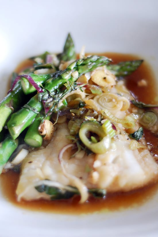 Cod With Asparagus in Parchment