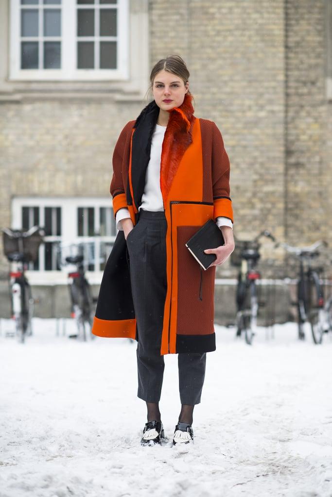 Orange you glad she added some wow-factor color? Source: Le 21ème | Adam Katz Sinding