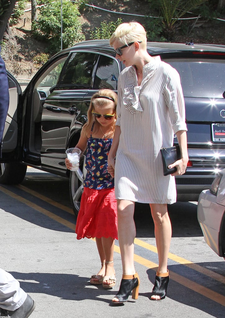 Matilda Ledger and Michelle Williams held hands on the way into Hollywood's Magic Castle.