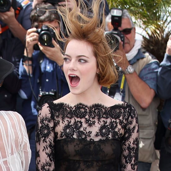 Emma Stone in Wind at Cannes 2015