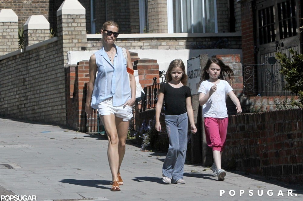 Gwyneth Paltrow took a stroll with Apple and her friend in London.