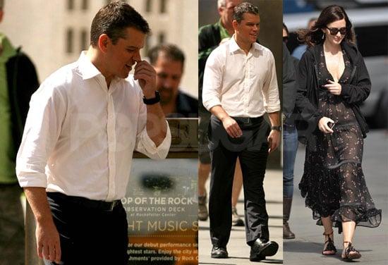 Photos of Matt Damon and Emily Blunt Filming The Adjustment Bureau in NYC 2009-09-29 16:00:30