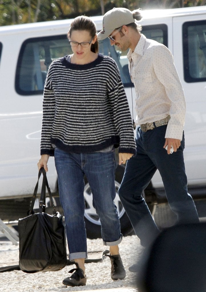 Jennifer Garner arrived in New Orleans for a day of shooting.