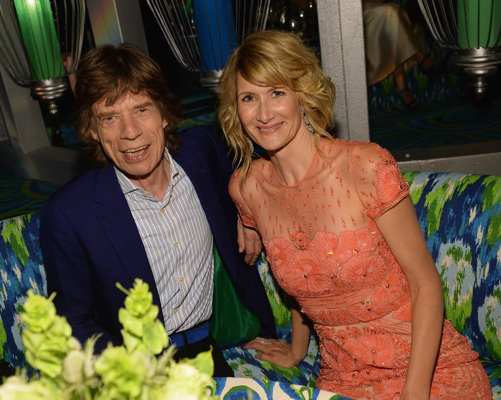 Laura Dern chatted with Mick Jagger at the HBO afterparty.