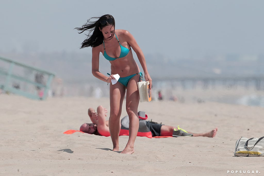 Desiree Hartsock went to an LA beach.