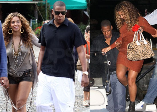 Pictures of Jay-Z and Beyonce Knowles on Vacation in Italy