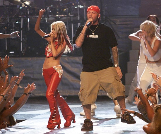 Fred Durst came on stage to join Christina Aguilera during her 2000 performance.