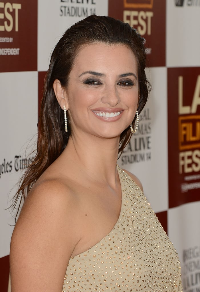 Penelope Cruz gave a big smile at the LA premiere of To Rome With Love.