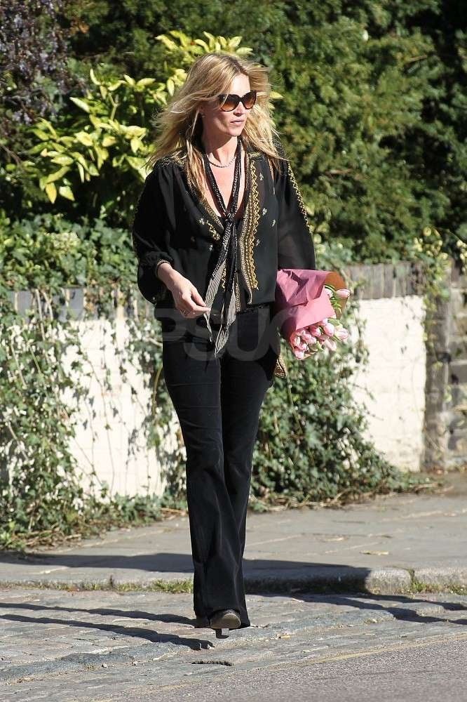 Kate Moss takes a stroll near her home in London.