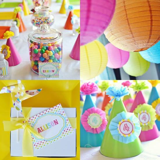 A Rainbow Birthday Party