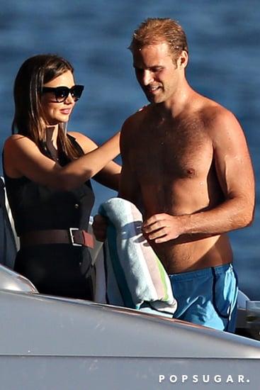 Miranda Kerr Cozies Up to a Hot New Guy