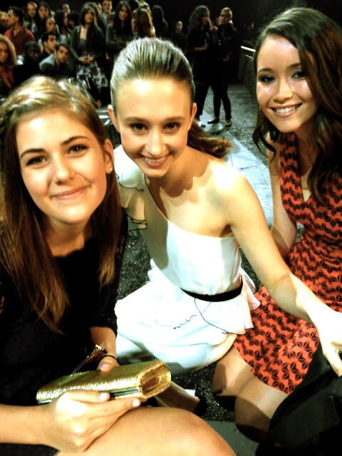 Katie Chang and Taissa Farmiga hung out with a pal at the MTV Movie Awards in April.  Source: Twitter user KatieChang53