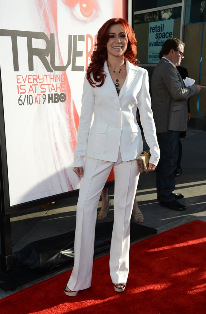 Carrie Preston posed for photographers at the premiere in Hollywood.