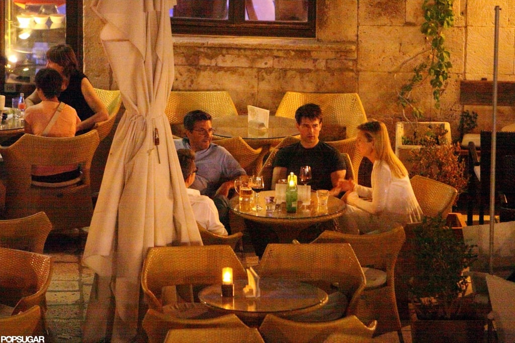 Tom Cruise enjoyed an evening with friends.