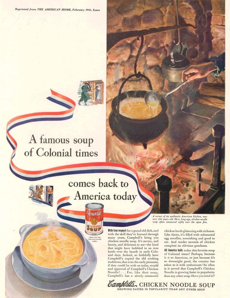 campbell's chicken noodle soup vintage ads   popsugar food