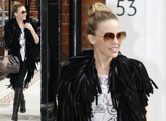 Photos of Kylie Minogue Outside Her West London House, Performing As Part Of An Abba Tribute