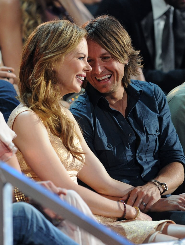 Sharing smiles at the 2010 CMT Music Awards.