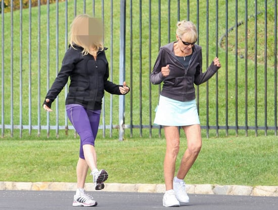 Guess Which Blond Actress Was Out For a Jog?