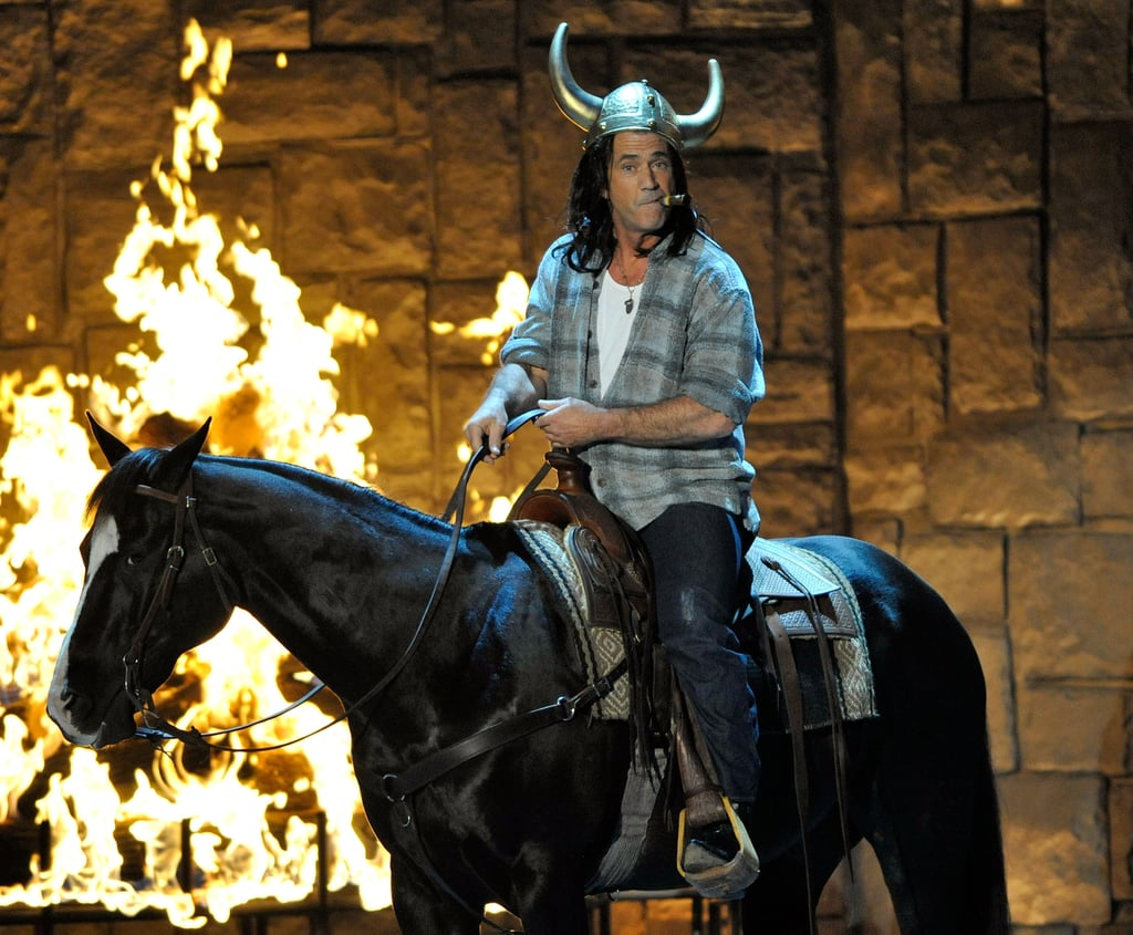 Mel Gibson rode a horse on the stage at the 2009 Guys Choice Awards.