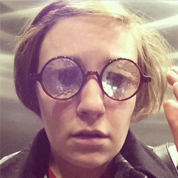 These frames were definitely not Lena Dunham's prescription. Source: Instagram user lenadunham