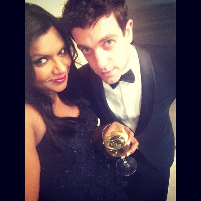Mindy Kaling and BJ Novak stepped out for the Vanity Fair party on Oscars night. Source: Instagram user mindykaling
