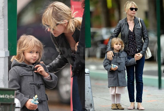 Photos of Michelle Williams and Matilda Ledger Heading to School in Brooklyn