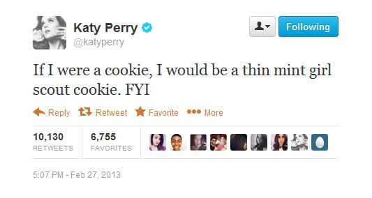 This is probably something lots of Katy's fans wanted to know.