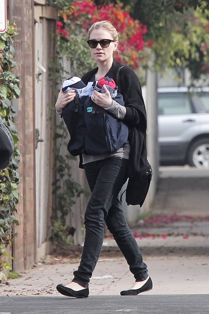 Anna Paquin kept it casual as she took a walk with her little ones.