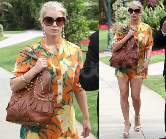 Jessica Simpson in Orange