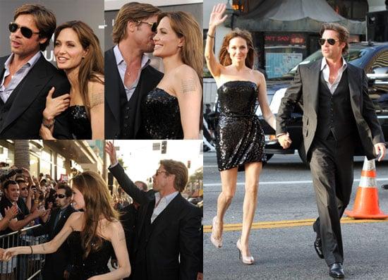 Pictures of Angelina Jolie, Brad Pitt, Liev Schreiber, Naomi Watts, and More at Salt LA Premiere