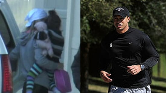 Tiger Woods Pictures and Elin Nordegren With Her Kids 2010-02-18 10:18:55