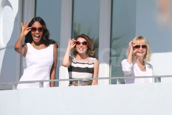 Pictures of Dannii Minogue, Twiggy, and VV Brown Filming M&S Ad in Miami