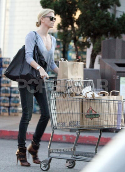 Pictures of Charlize Theron Grocery Shopping in High Heels