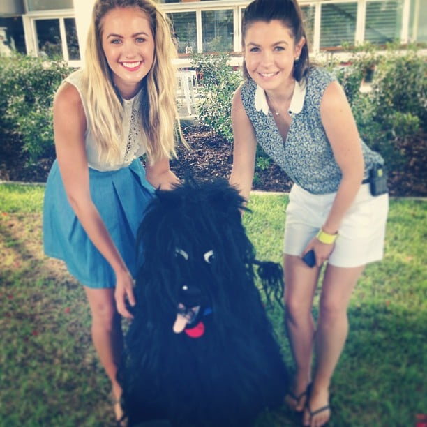 Jesinta Campbell was star struck to meet Hairy Maclary from Donaldson's Dairy. Source: Instagram user jesinta_campbell