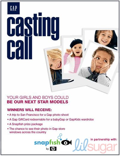 It's Time to Vote...Gap Casting Call-style