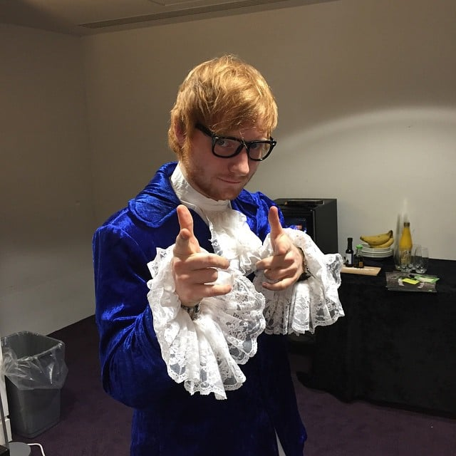 Ed Sheeran went as Austin Powers in 2014.