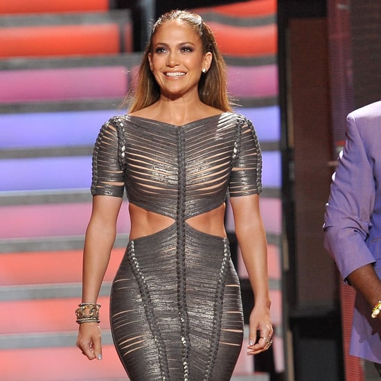 Jennifer Lopez American Idol Pictures in Herve Leger