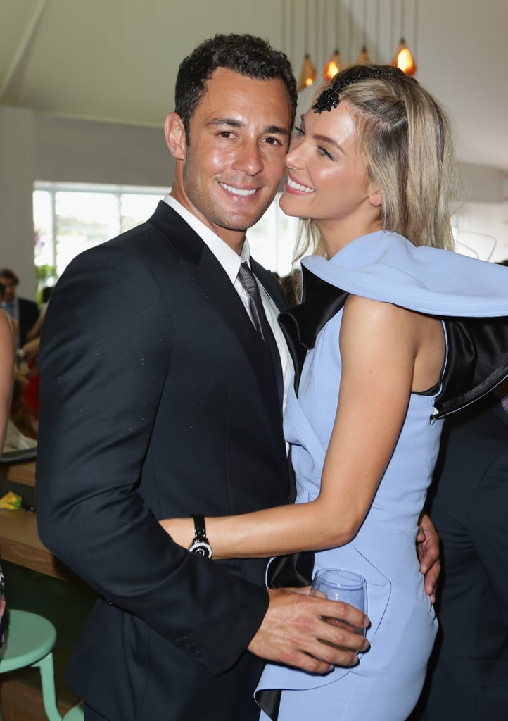 The couple couldn't keep their hands off each other at the 2012 Melbourne Cup.
