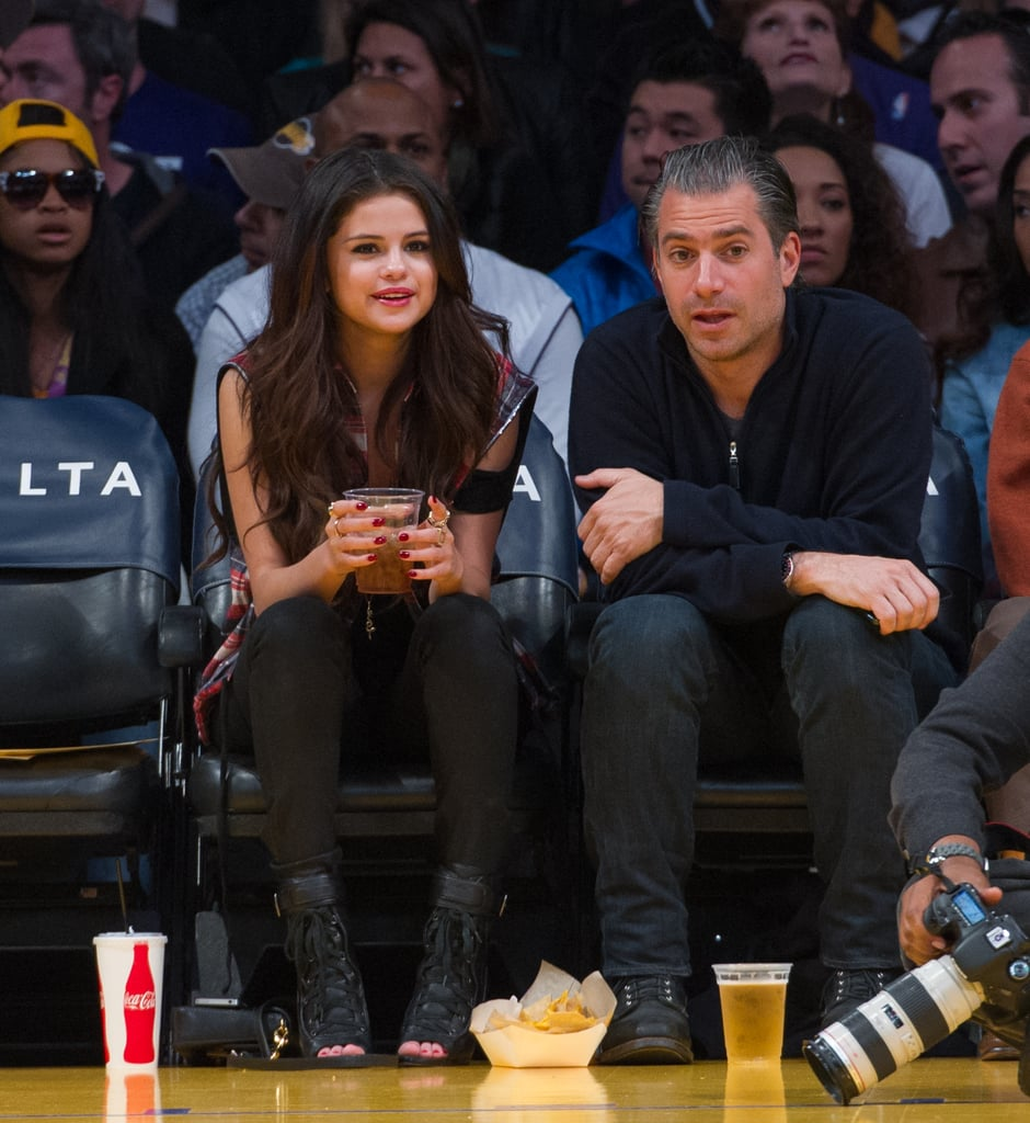 Selena Gomez watched the game with her agent.
