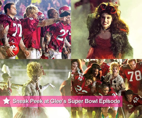 Pictures From Glee Super Bowl Thriller Episode With Cast in Zombie Costumes and Makeup