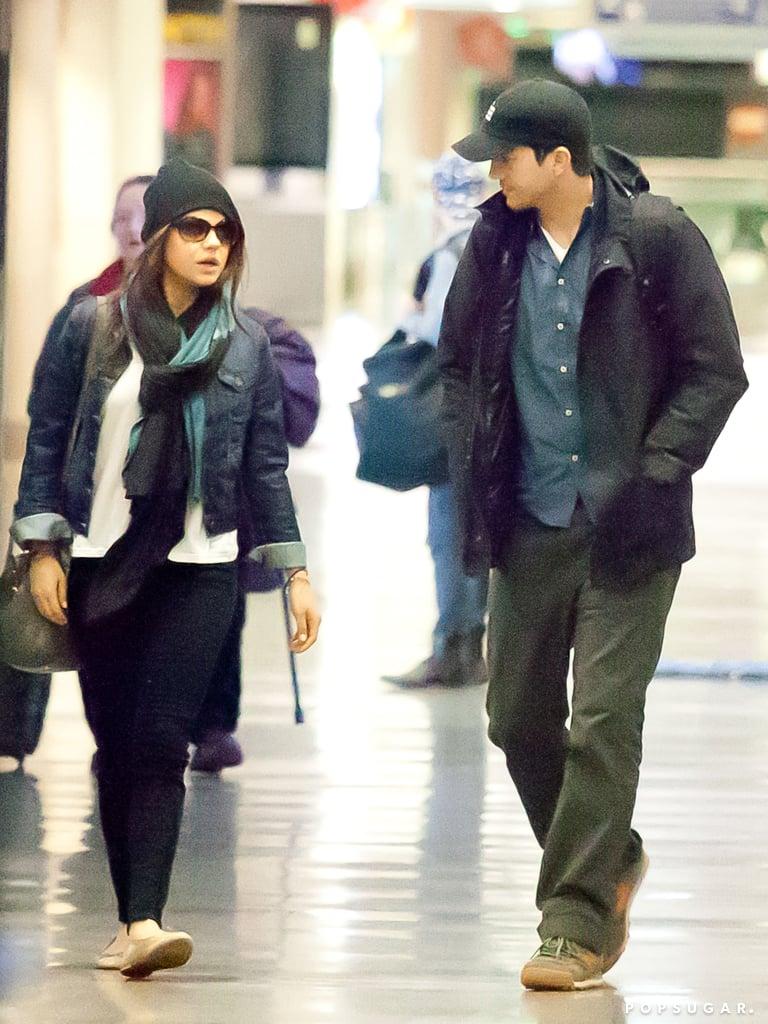 So Long, NYC! Ashton and Mila Bring Their Love Back to LA